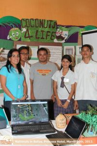 "Bishop Martin High with their winning project ""Coconut 4 Life""."