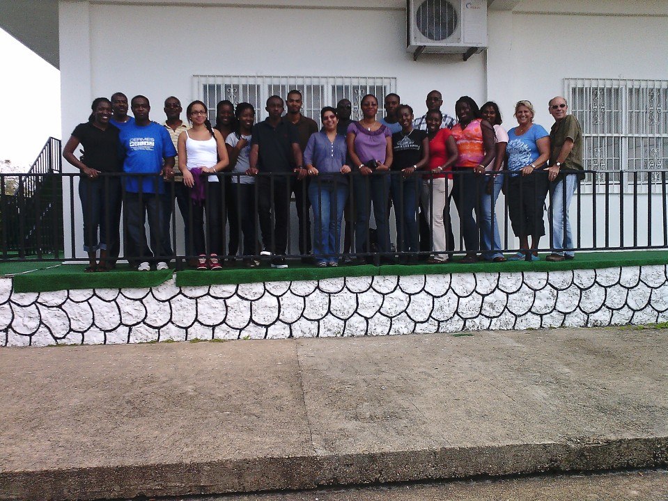 CERMES Students with 5Cs staff in Belmopan