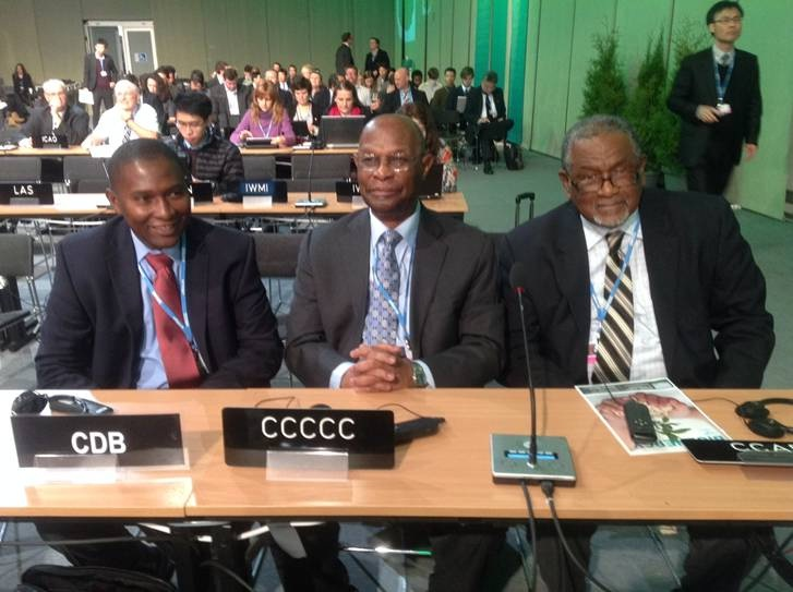 (Left to Right) Selwin Hart, Dr. Kenrick Leslie, Dr. Ulric Trotz