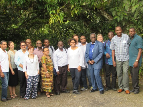 Participants at the Africa and the Caribbean Knowledge Exchange on Water Security and Climate Resilient Development