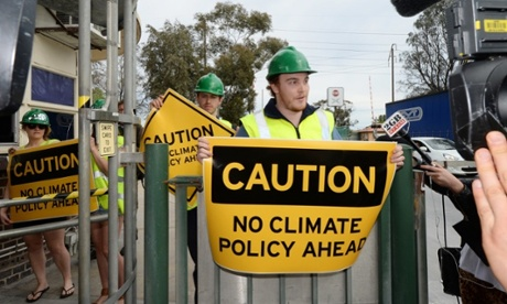 Climate change protesters in Adelaide. Photograph: AAP/Alan Porritt