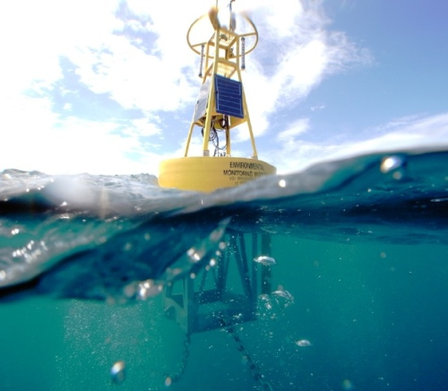 This coastal buoy supports a full array of water quality sensors, data acquisition systems, and meteorological sensors. Its hull and structure are rugged enough to withstand significant wind and wave activity in ocean applications in less than 75 meters of water depth.