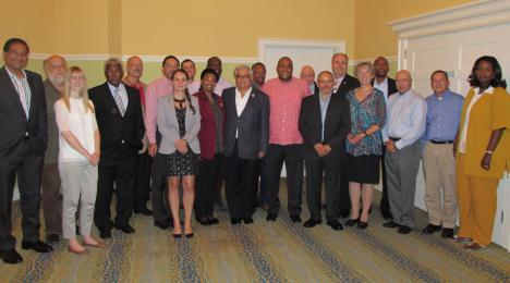 Participants from the seventh steering committee meeting of the RAC-REMPEITC in Curacao