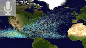 Map showing tropical cyclone tracks over the Caribbean and Eastern Pacific regions from 1985 to 2005: NASA: (Public domain)