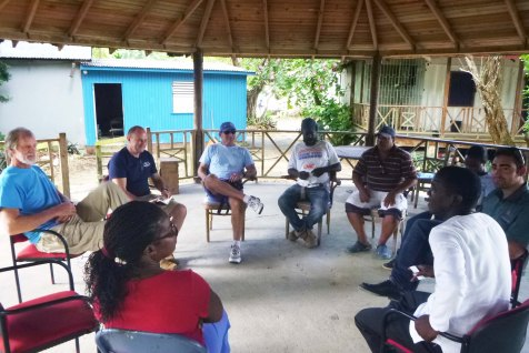 PhotoCredit: Meetings between BBFFS, CRFI, CARIBSAVE and Sandals Foundations prior to the installation trip. Photo by M. McNaught.