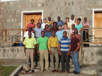 Eastern Caribbean representatives at the ECMMAN data monitoring workshop in Nevis