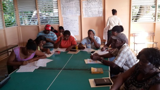 Planning for actions and resources by communities. Credit: SGP St. Lucia