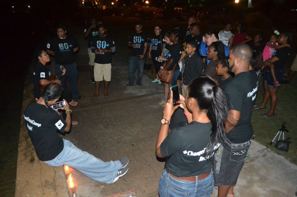 Earth Hour in Belize City