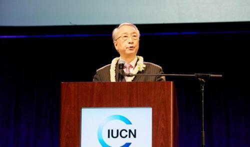 IUCN President Zhang Xinsheng