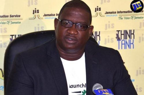 Executive Director of the Scientific Research Council (SRC), Dr. Cliff Riley, speaks at a JIS 'Think Tank' on September 6. He highlighted that application for the Caribbean Climate Innovation Centre (CCIC) Accelerator Programme closes on September 9.