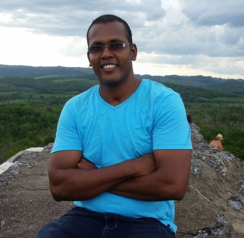 Edon Daniels, Master's student at the University of the West Indies, Cave Hill Campus