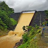 Roseau Dam spilling sediment-laden waters. Photo Credit: Horst Michael Vogel